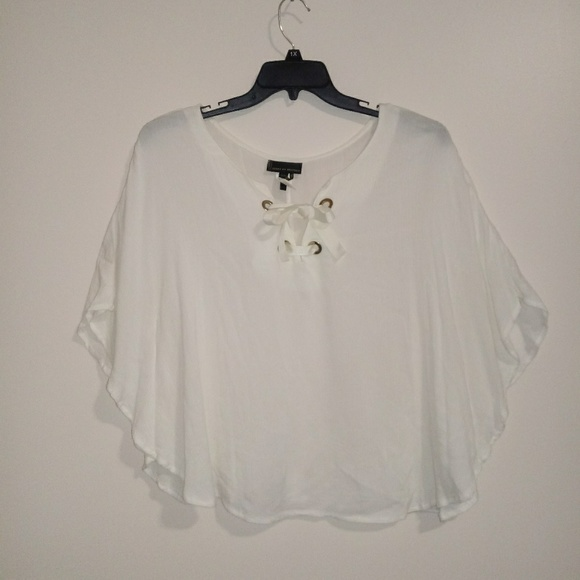 i jeans by Buffalo Tops - Jeans by Buffalo Cream Butterfly Sleeve Top XL